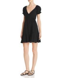 FLYNN SKYE Annabelle Mini Wrap Black Dress