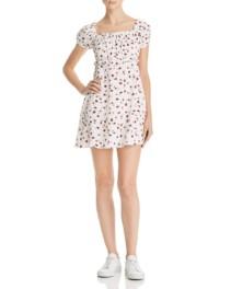 FLYNN SKYE Lou Mini White / Floral Printed Dress
