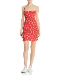 FLYNN SKYE Lynn Slip Red / Floral Printed Dress