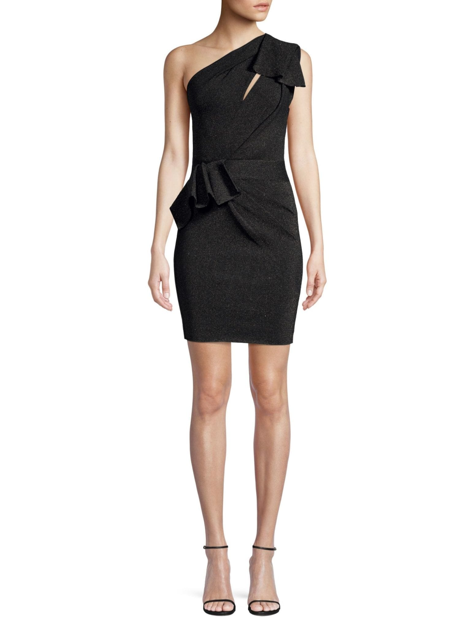 4ea63f3489d4 HERVE LEGER One-Shoulder Cocktail Black Dress - We Select Dresses