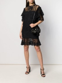 ISABEL MARANT Satia Lace Black Dress