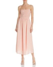 JOIE Stretch-Smocked Pink Dress