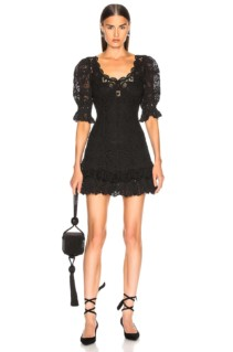 JONATHAN SIMKHAI Crochet Lace Mini Black Dress