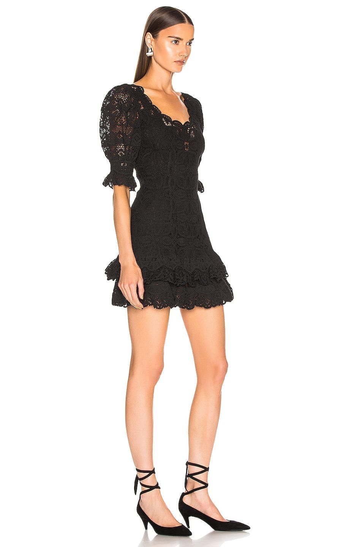 JONATHAN SIMKHAI Crochet Lace Mini Black Dress