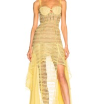 ae88a0dfc47b JONATHAN SIMKHAI Embroidered Chiffon Bustier Yellow Gown - We Select ...