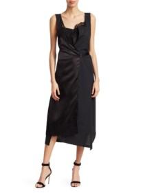 JUNYA WATANABE Overall Slip Combo Black Dress