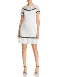 KARL LAGERFELD PARIS Floral Lace White Dress
