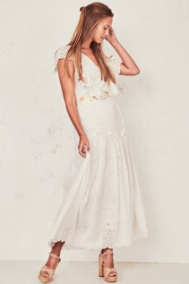 LOVESHACKFANCY Cressida ivory Dress