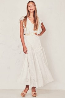 LOVESHACKFANCY Cressida White Dress