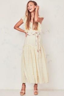 LOVESHACKFANCY Cressida Yellow Dress