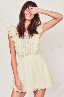 LOVESHACKFANCY Dora Yellow Dress