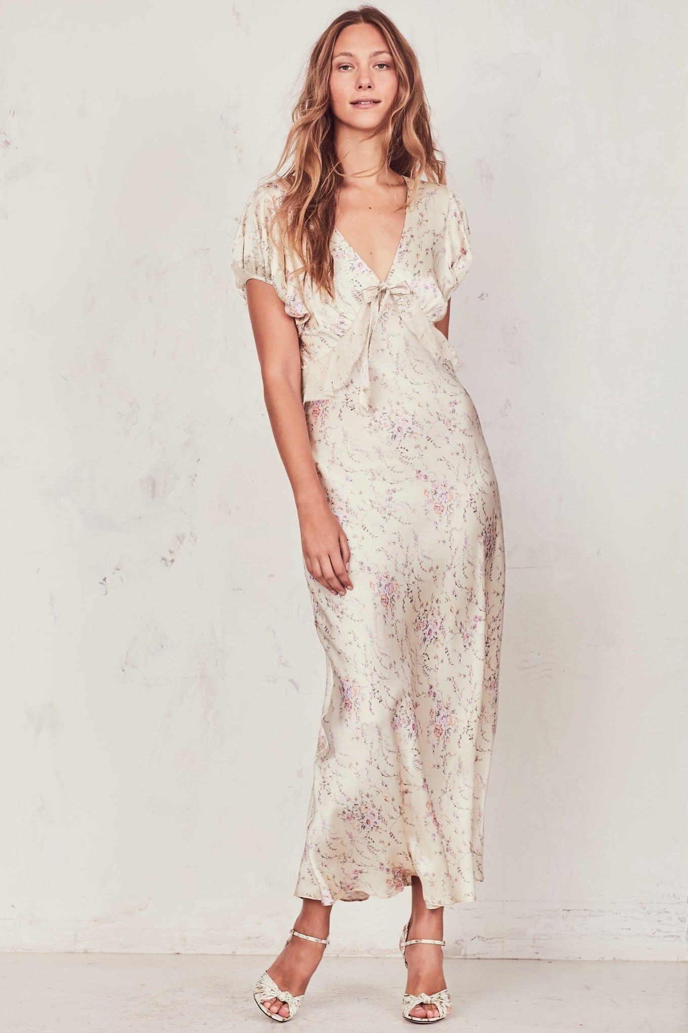 LOVESHACKFANCY Lillian Biscotti / Floral Printed Dress