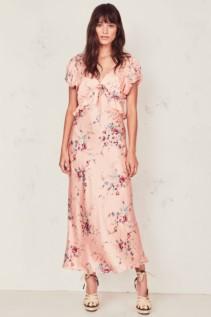 LOVESHACKFANCY Lillian Pink / Floral Printed Dress