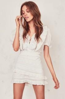 LOVESHACKFANCY Sutton Cream Dress