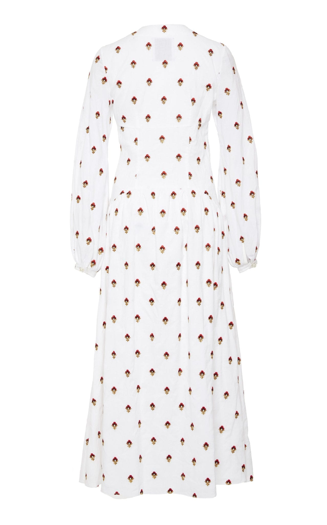 MARKARIAN M'O Exclusive Churchill Embroidered Cotton White Dress