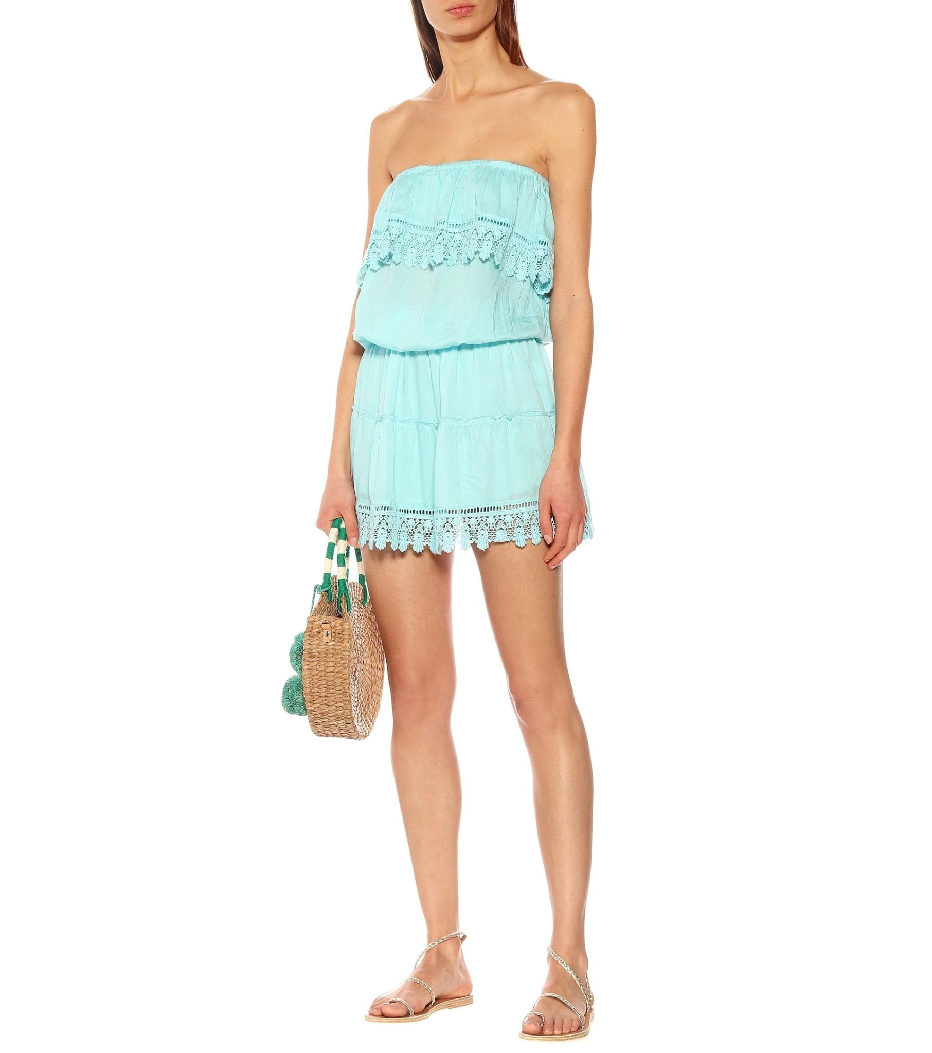 MELISSA ODABASH Joy Strapless Mini Sky Dress