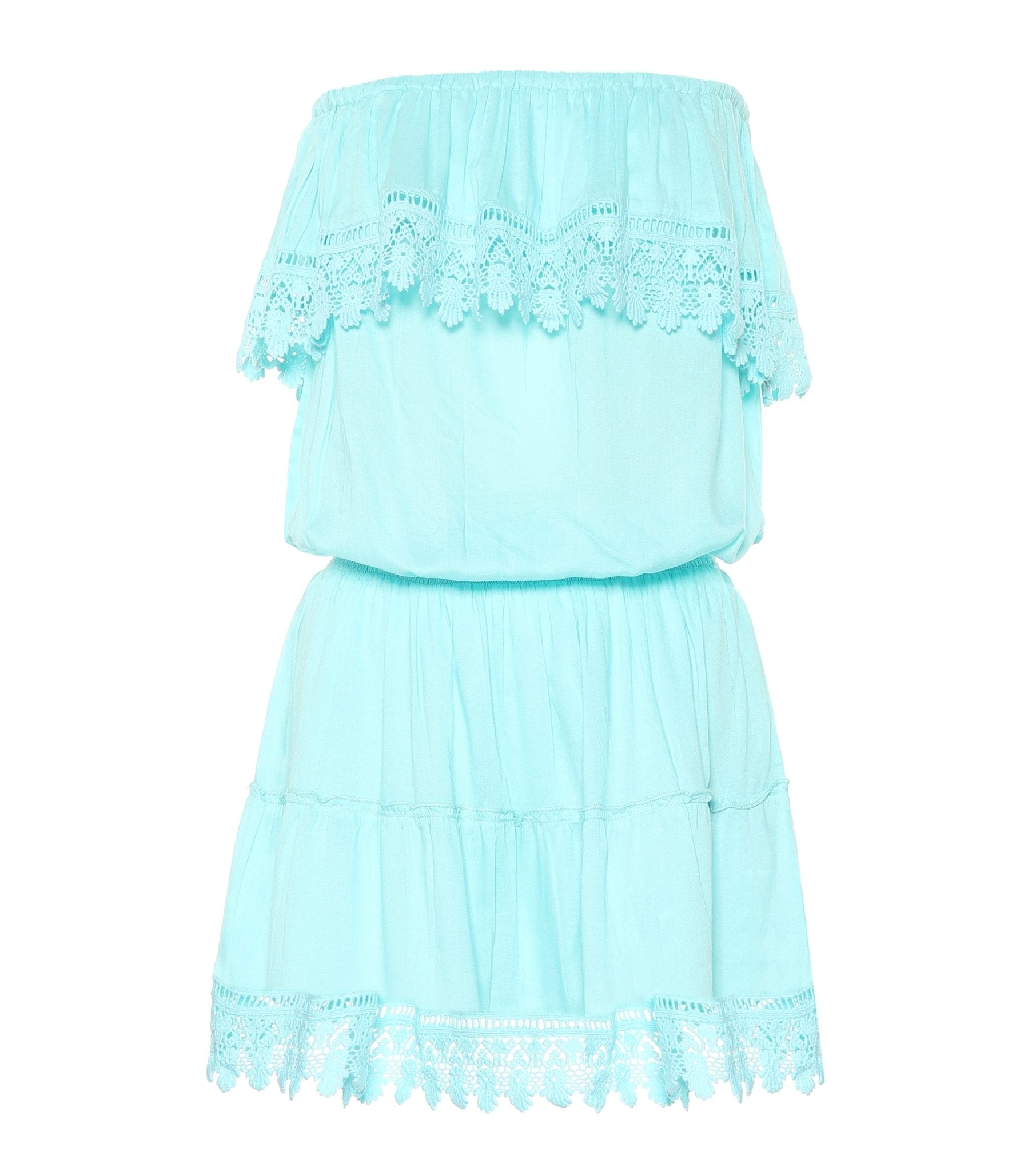 MELISSA ODABASH Joy Strapless Mini Sky Dress
