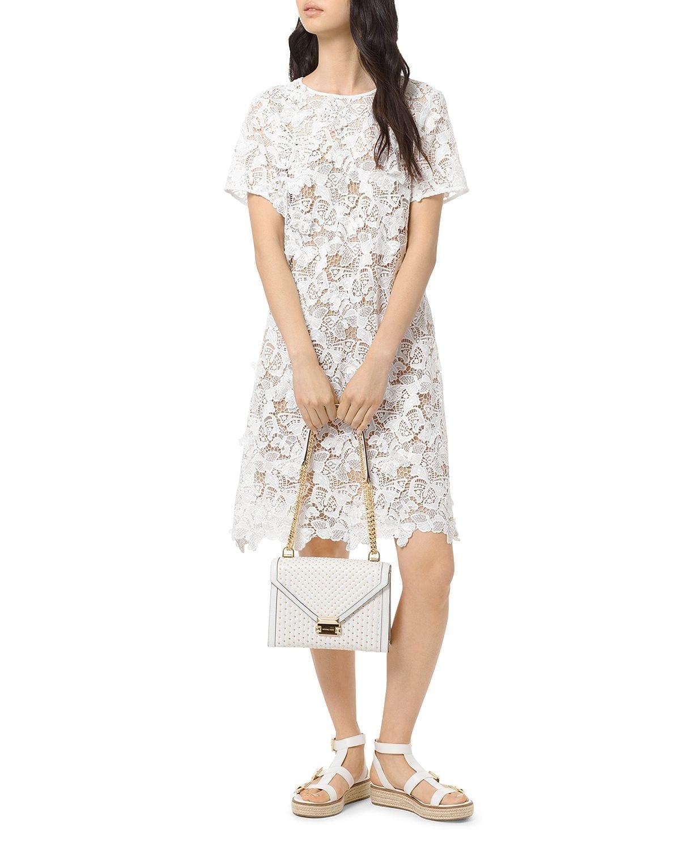 MICHAEL MICHAEL KORS Butterfly-Lace White Dress