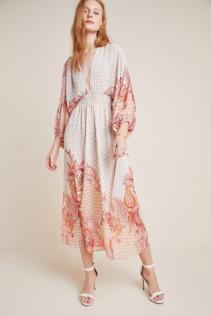 MISA Emala Maxi Neutral Dress