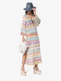 MISSONI MARE Zig-zag Kaftan Maxi Multicolored Dress