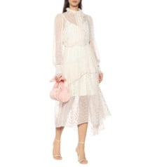 PREEN BY THORNTON BREGAZZI Lana Floral Devoré White Dress