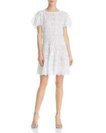 REBECCA TAYLOR Livy Eyelet White Dress