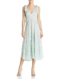 REBECCA TAYLOR Pleated Silk Mint Green Dress