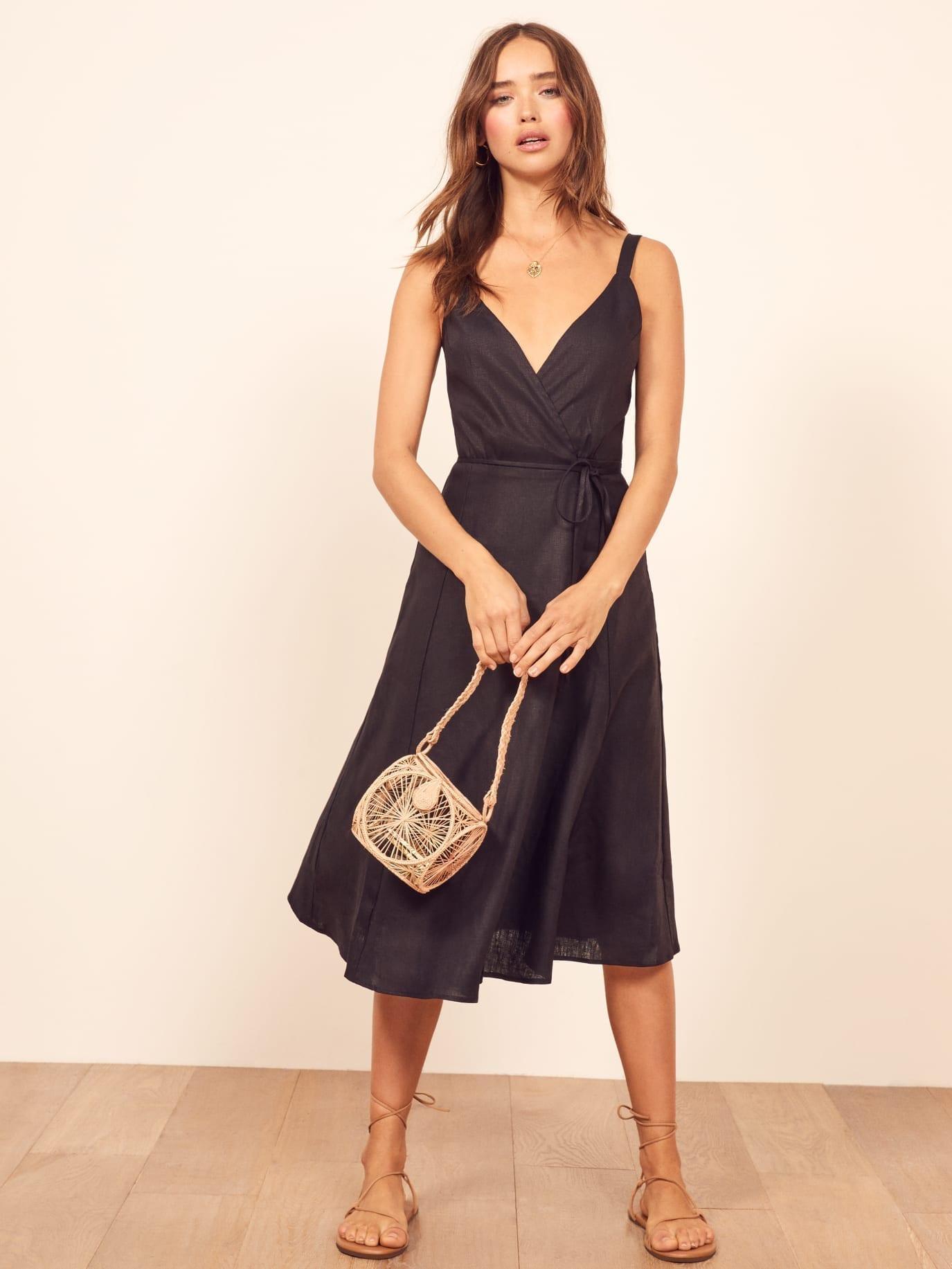 REFORMATION Beverly Black Dress