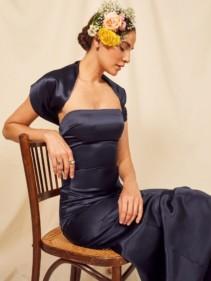 REFORMATION Demilo Navy Dress