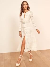 REFORMATION Elsie White Dress