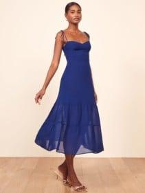 REFORMATION Emmie Blue Dress