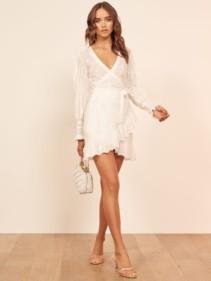 REFORMATION Harriet White Dress