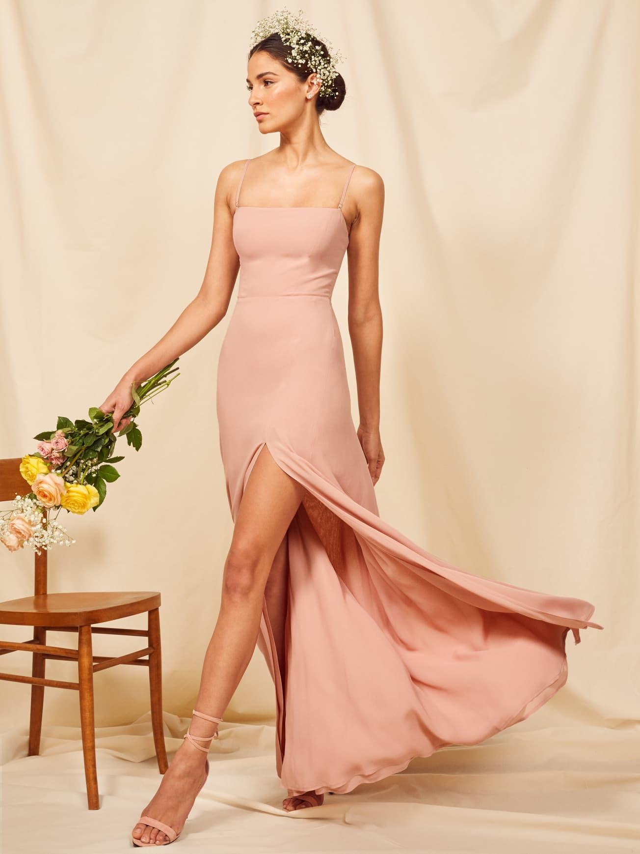 REFORMATION Ingrid Blush Dress
