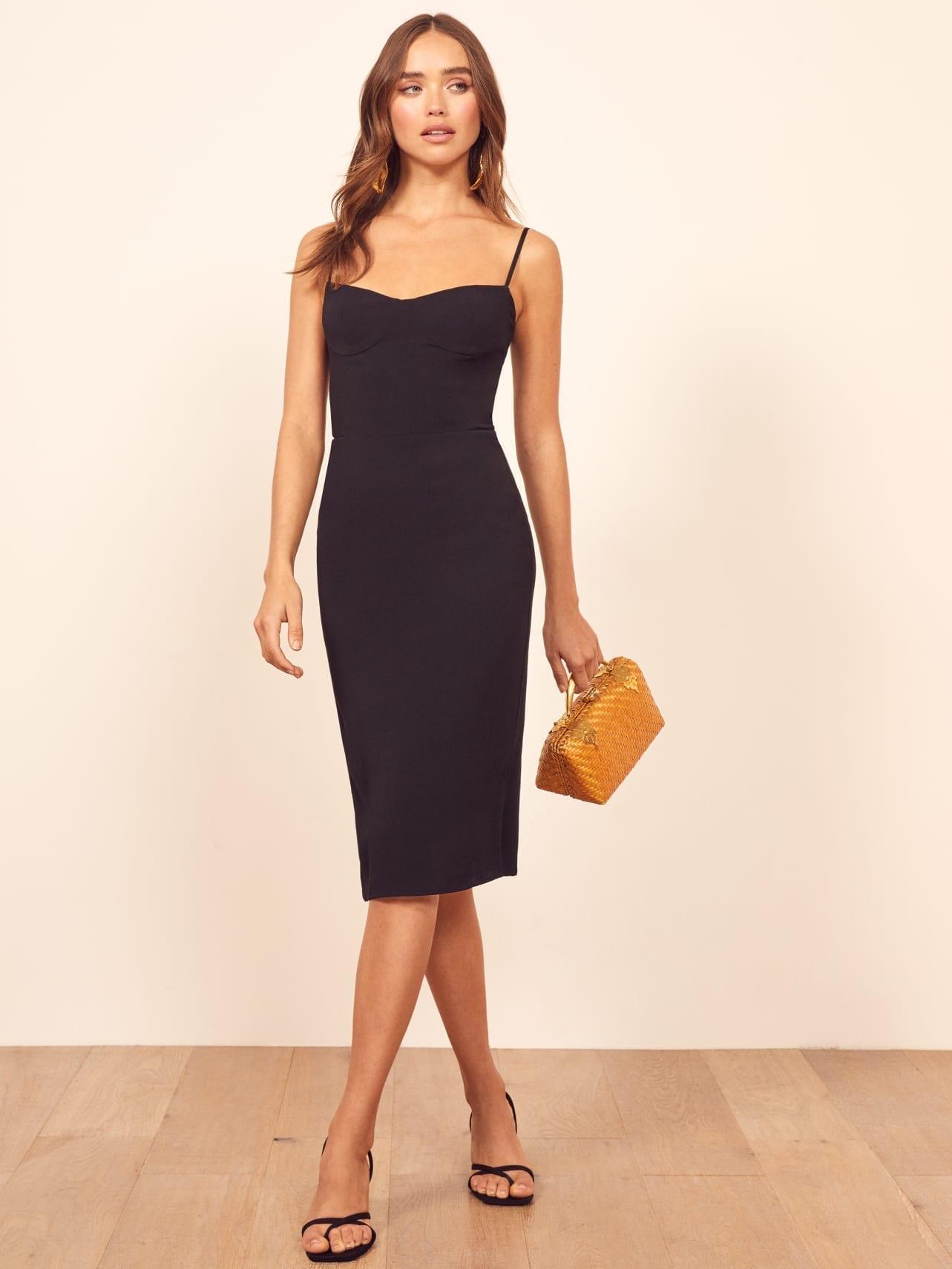 REFORMATION Isabel Black Dress