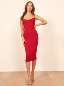 REFORMATION Isabel Red Dress
