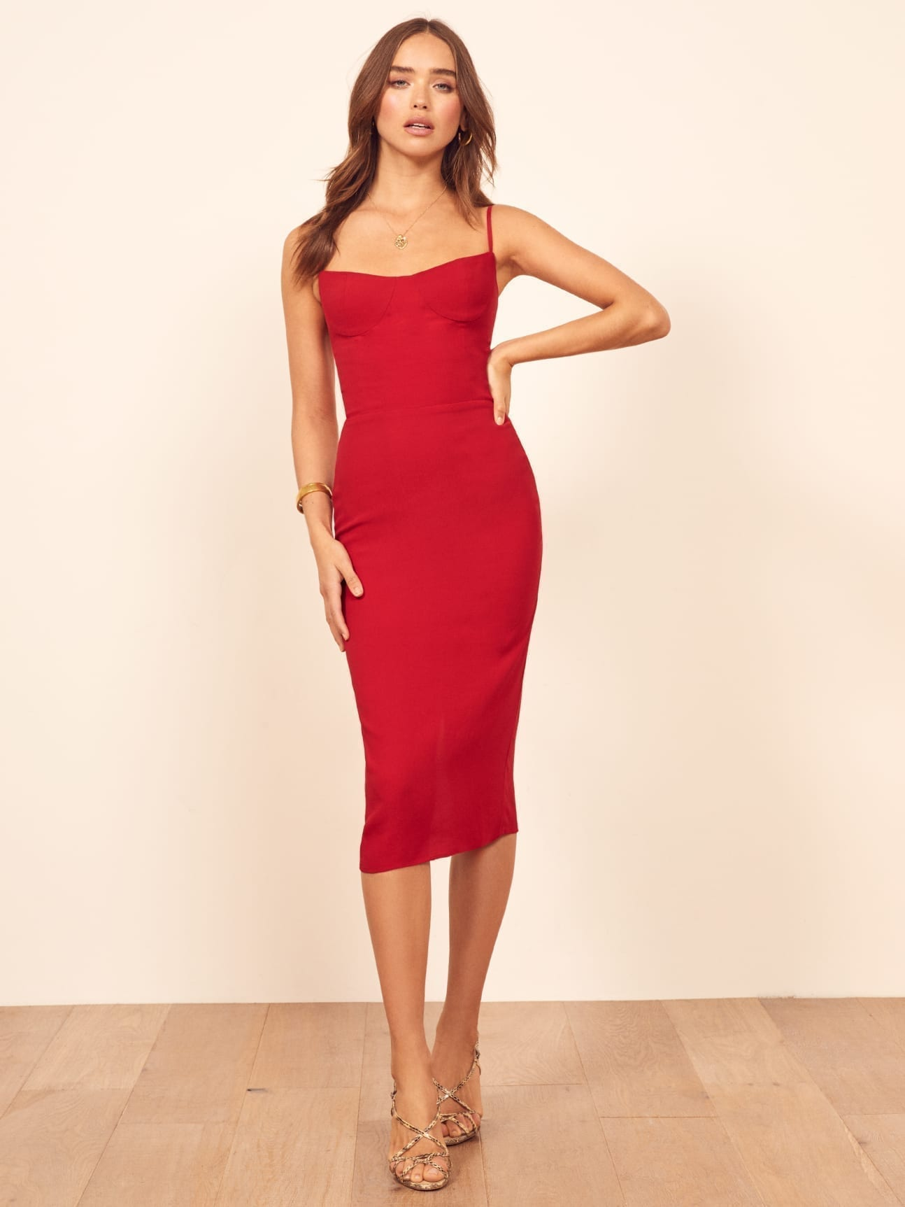 REFORMATION Isabel Red Dress