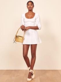REFORMATION Maxine White Dress