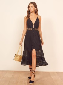 REFORMATION Shelley Black Dress