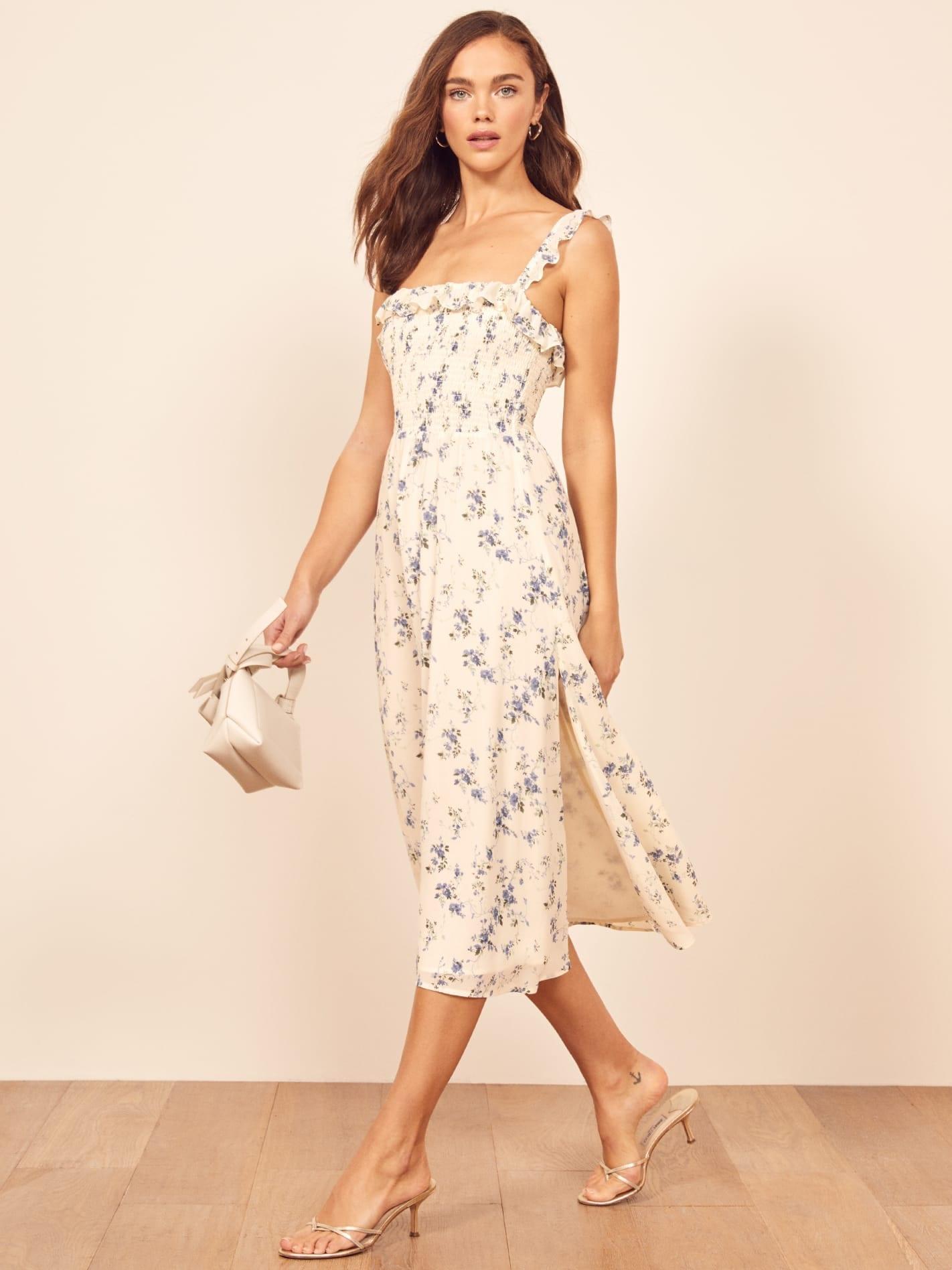 REFORMATION Siesta White Dress