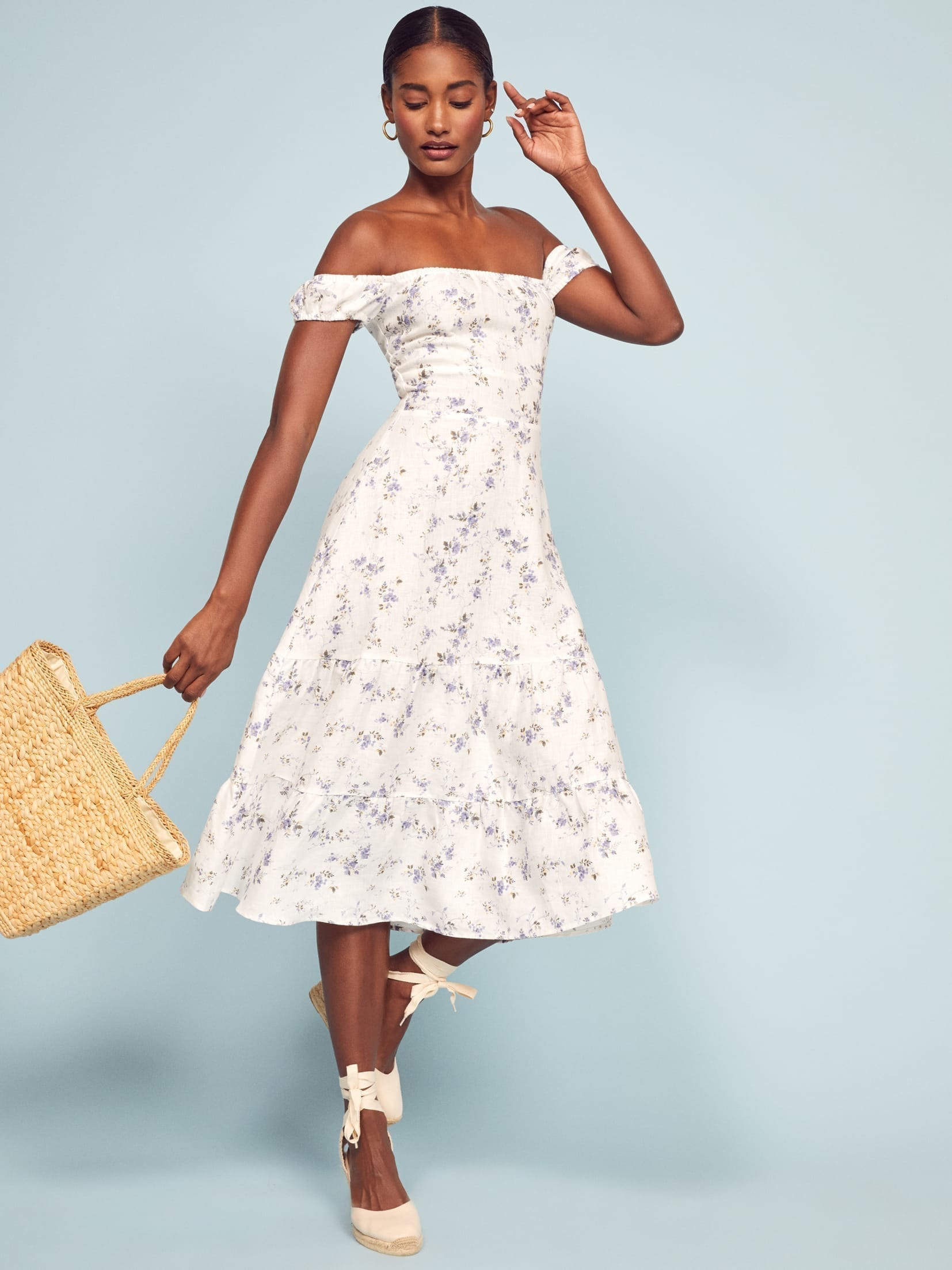 REFORMATION Toulouse White Dress