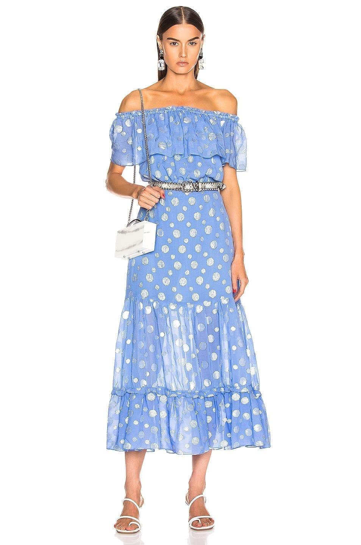 RIXO Queenie Blue Dress
