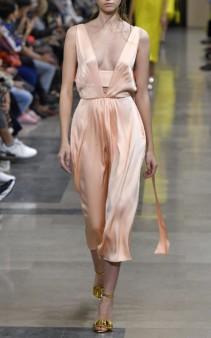 ROCHAS Odium Silk-Satin Midi Pink Dress