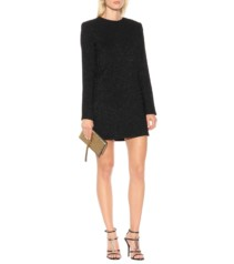SAINT LAURENT Jacquard Mini Black Dress
