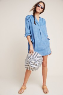 SEAFOLLY Boyfriend Cover-up Top Navy Dress