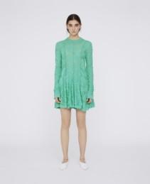 STELLAMCCARTNEY Lace Mini Green Dress