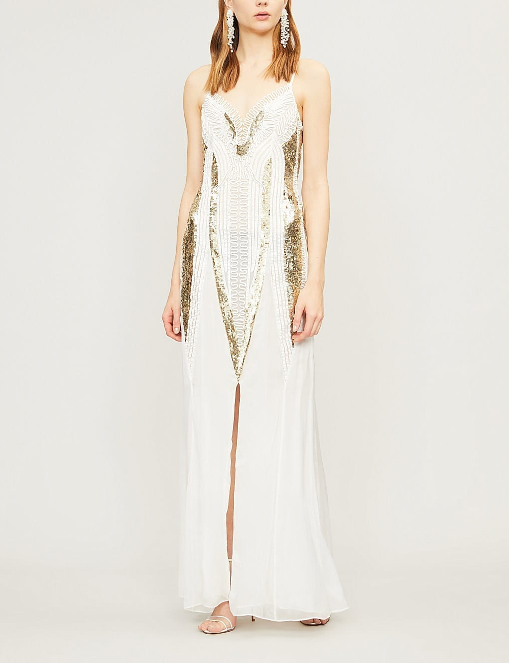TEMPERLEY LONDON Moondrop Sequinned White Dress