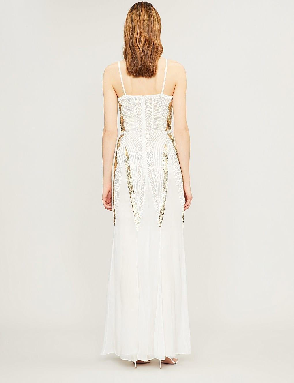 TEMPERLEY LONDON Moondrop Sequinned White Dress