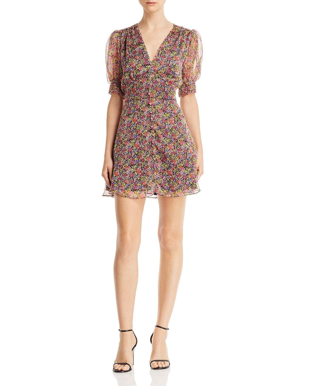 a4749054af69 THE EAST ORDER Freya Puff-Sleeve Mini Floral Printed Dress - We ...
