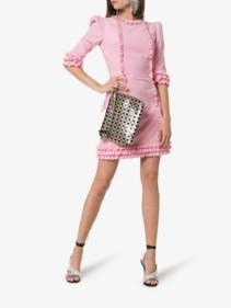 THE VAMPIRE'S WIFE Kate Ruffle-Trim Mini Pink Dress