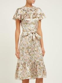 THE VAMPIRE'S WIFE The La Silk-Satin Midi Floral Printed Dress